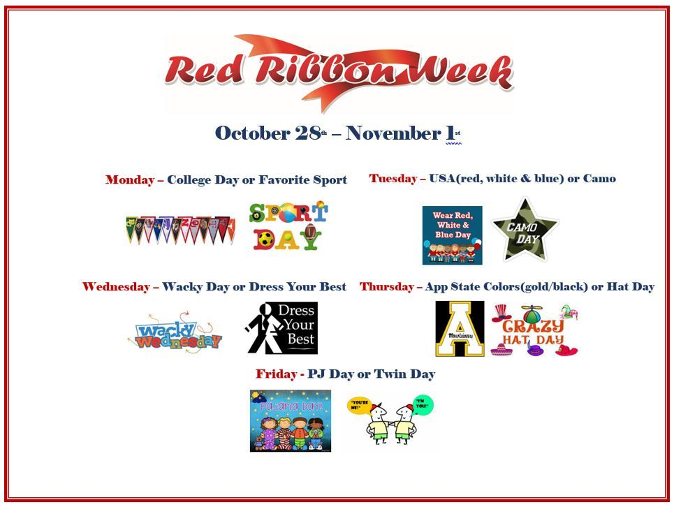 Red Ribbon Week October 28th - November 1st