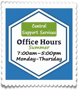 Center Support Services Summer Hours
