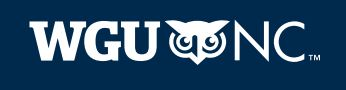 WGU North Carolina Logo
